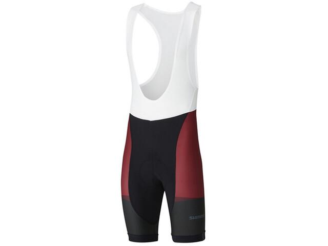 Shimano Team Bib Shorts Men red